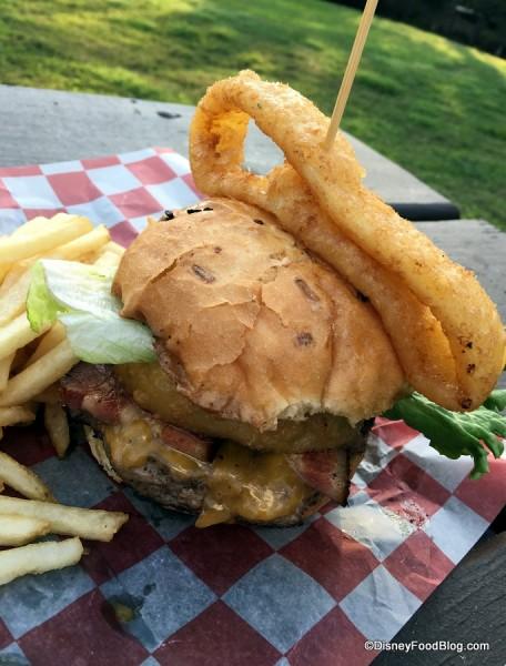 Fort Wilderness Smoked Pork Belly Tillamook Cheeseburger