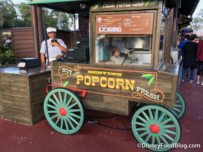 Frontierland Popcorn Cart