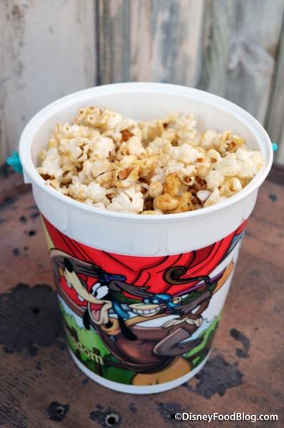 Frontierland Popcorn Cart Maple Popcorn Bucket