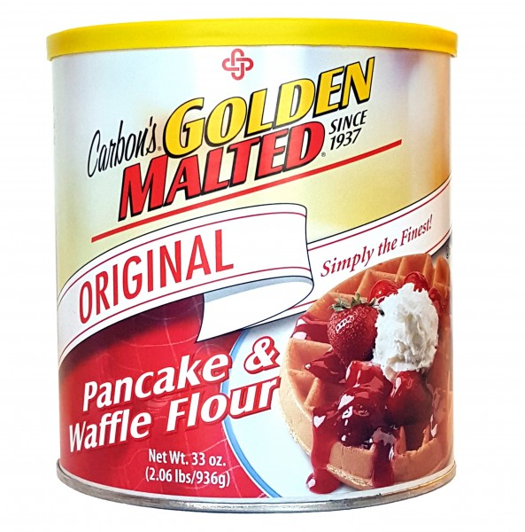 Enjoy Golden Malted Waffle Mix at Home!