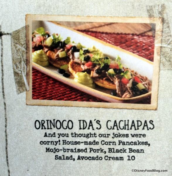 Cachapas on the Appetizer Menu