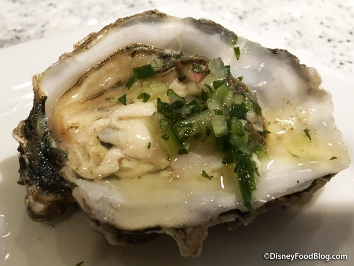 Oyster Topped with Champagne Mignonette