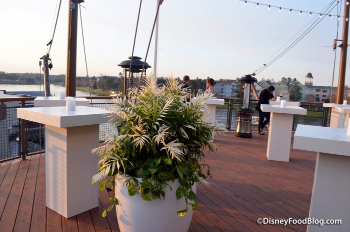 Rooftop Bar, Front -- Highboy Tables