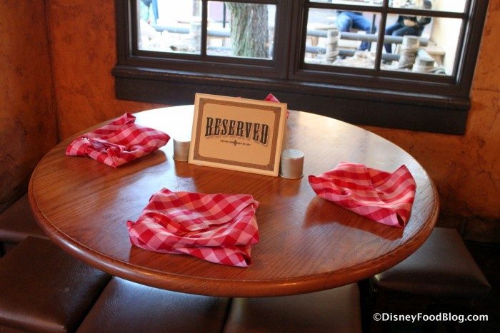 Reserved Table at Pecos Bill's for those tackling the Nachos Rio Grande Challenge!