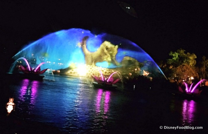 Rivers of Light Projection of Simba