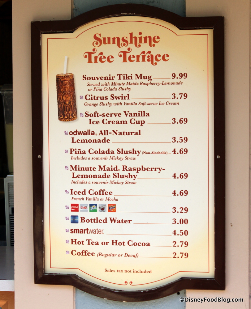 Secret menu disney world citrus swirl just the citrus for The terrace menu