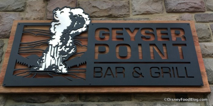 Geyser Point Bar & Grill sign