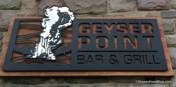 Geyser Point Bar & Grill sign