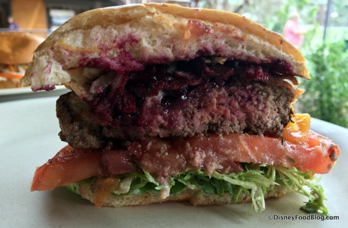 Bison Cheeseburger cross-section