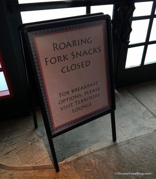 Roaring Fork Refurb sign