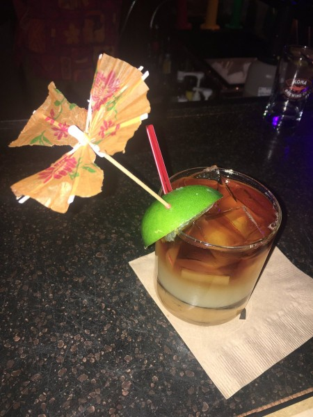 You can't pass up the Tropical Dark and Stormy!