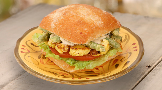 Enchanted Cauliflower Sandwich (pic from Disney Parks Blog)