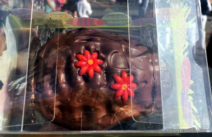 Close-up on Chocolate Fudge Easter Egg