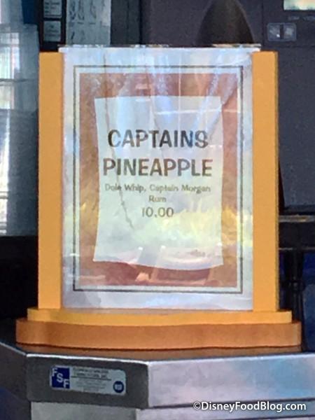 Art of Animation Captain's Pineapple