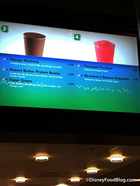 Art of Animation Landscape of Flavors Frozen Beverages Menu