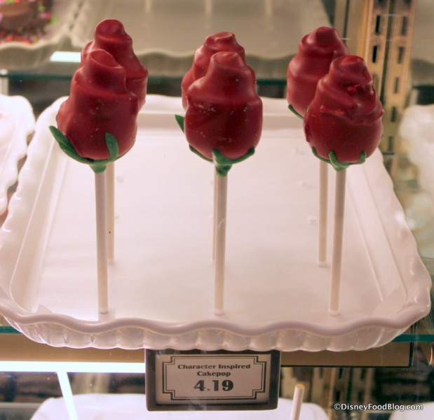 Enchanted Rose Cake Pop -- In the Case