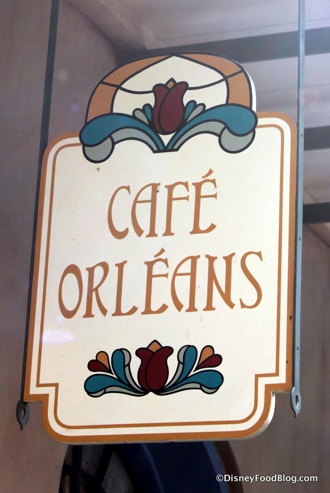 Review my favorite food in disneyland the disney food blog cafe orleans signage fandeluxe Choice Image