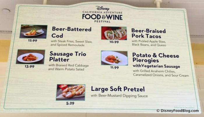 Disney California Adventure Food and Wine Festival 17_-003 Paradise Garden Grill Menu