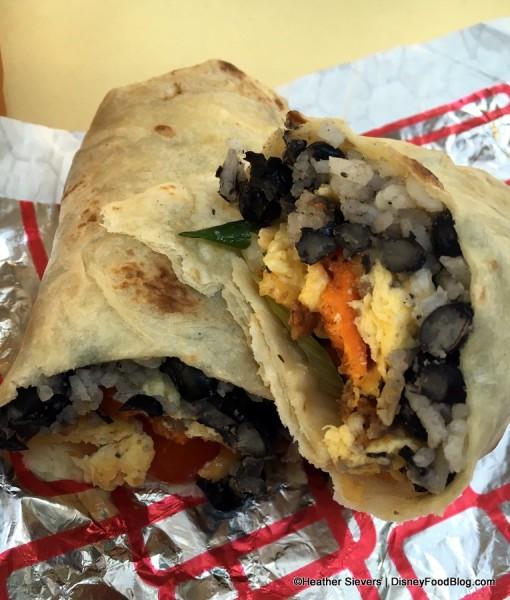 Caribbean Breakfast Burrito