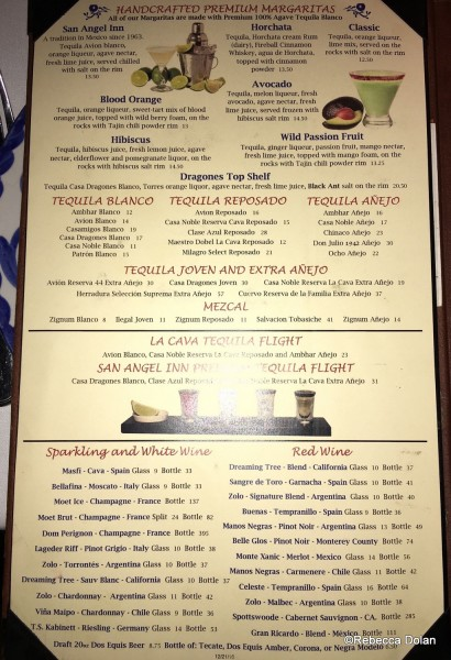 San Angel Menu