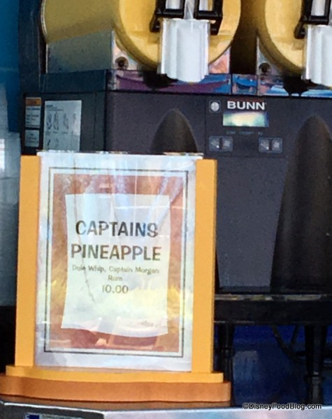 Captain's Pineapple sign