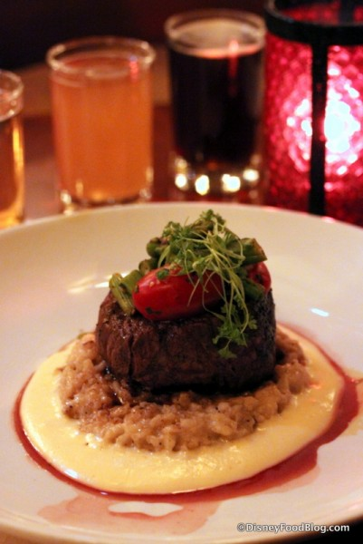 Le Cellier Filet and Unibroue Beer Flight