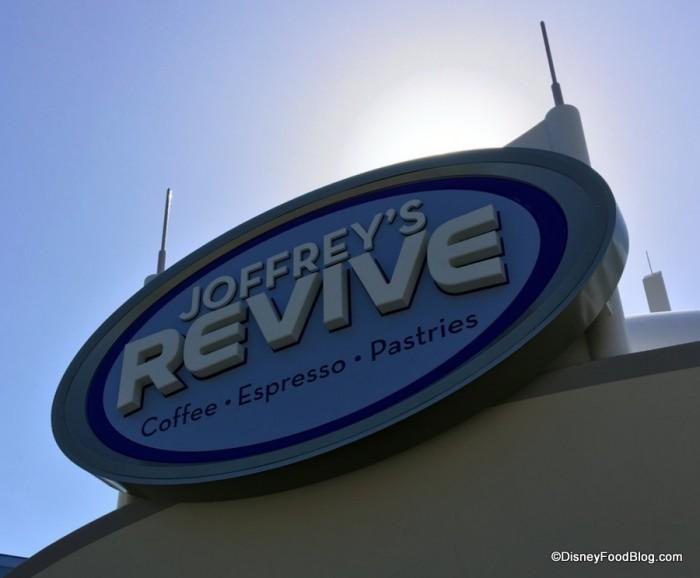 Joffrey's Revive sign