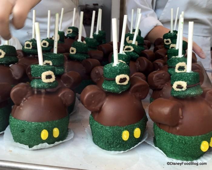 St. Patrick's Day Mickey Caramel Apples