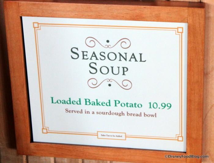 Seasonal Soup Sign