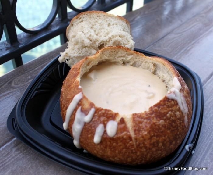 Loaded Baked Potato Soup in a Sourdough Bread Bowl