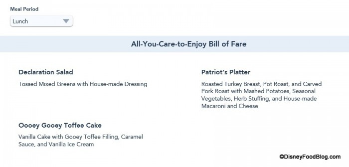 Screenshot from the Walt Disney World website