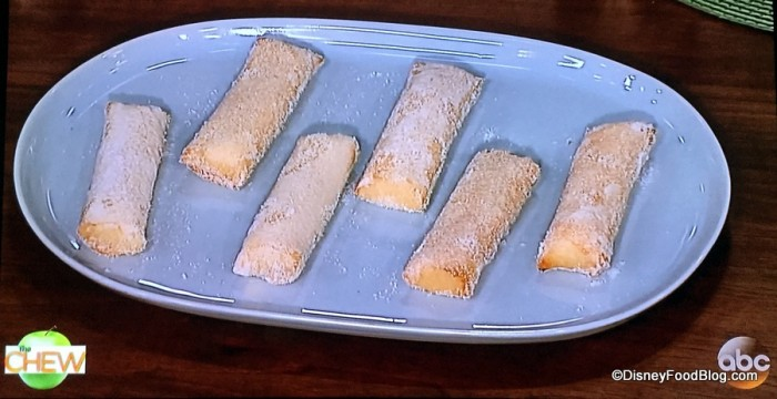 Television Shot of Lumpia on ABC's The Chew