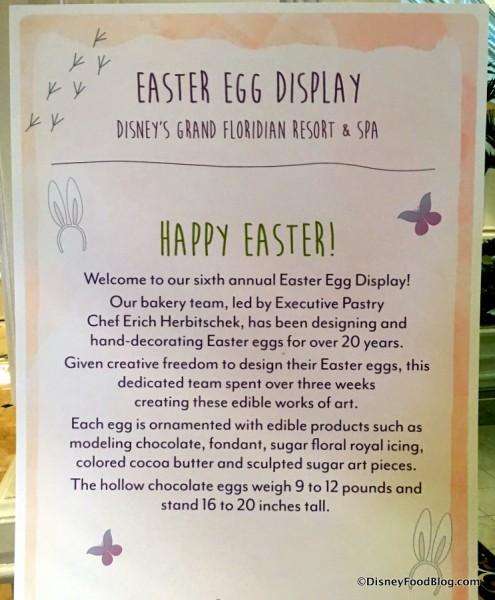 Grand Floridian Easter Egg Display