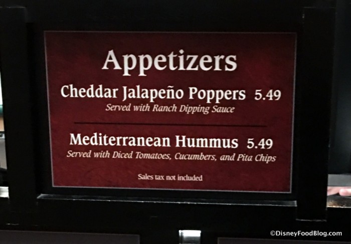 Appetizers at ABC Commissary