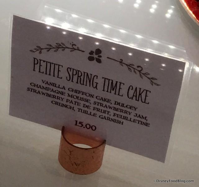 Petit Spring Time Cake Sign