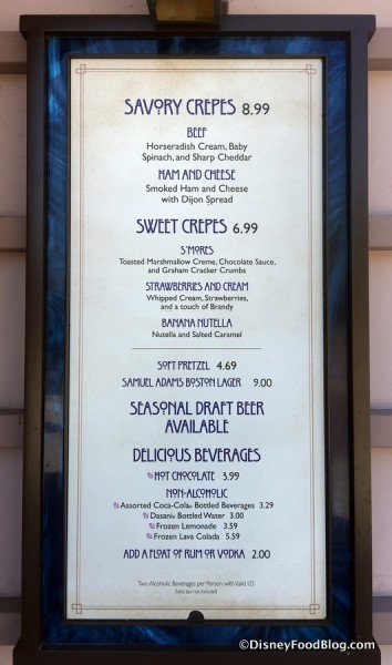 AristoCrepes Menu