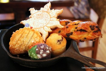 Pastry assortment at the Bon Voyage Breakfast