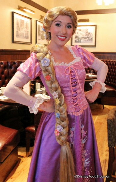 Rapunzel at the Bon Voyage Character Breakfast
