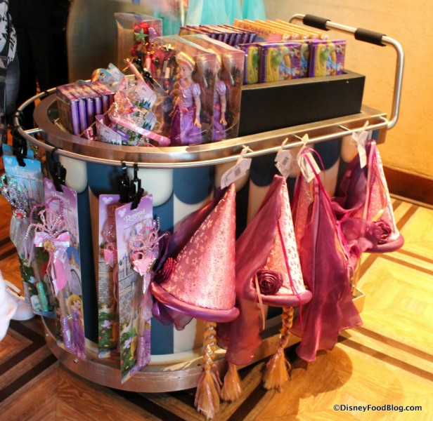 Rapunzel and Little Mermaid Merchandise Cart