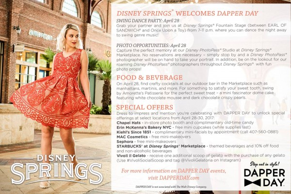 Celebrate Dapper Day at Disney Springs with Special Food and Drinks