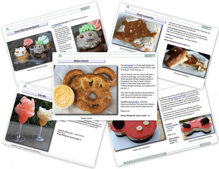 DFB Guide to Epcot Snacks e-Book Sample Pages