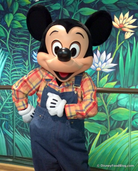 Mickey Mouse at Garden Grill in Epcot