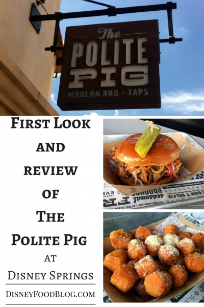 Get a First Look and Review of The Polite Pig at Disney Springs