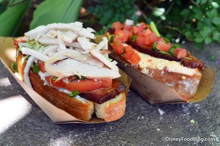 Turkey BLT and Pimento Cheese BLT at The Smiling Crocodile in Disney's Animal Kingdom