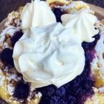 Review: Blueberry Lemon Funnel Cake at Hungry Bear Restaurant in Disneyland