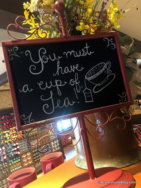 Sign in Mickey's Pantry