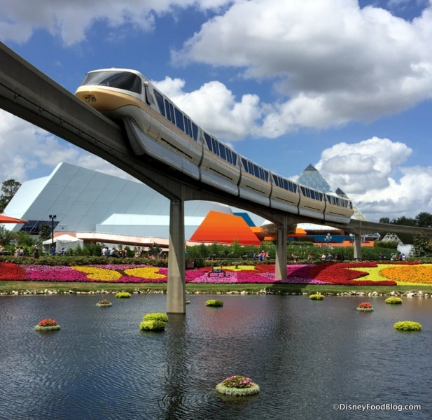 Monorail Epcot Flower and Garden