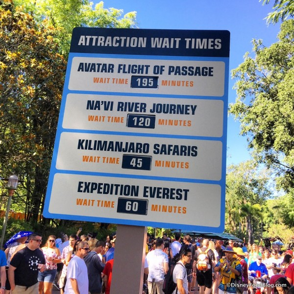 Pandora Wait Times...once you actually get into Pandora...on opening day