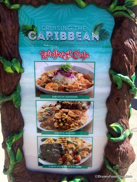 Caribbean Selections at Rainforest Cafe