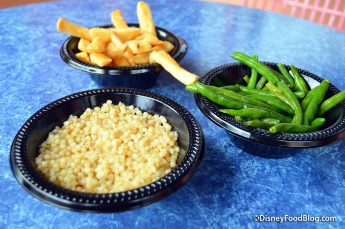 ABC Commissary Sides -- Steak Fries, Green Beans, and Cous Cous